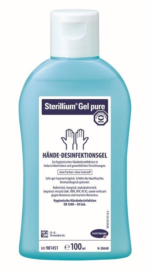 Sterillium®  Gel Pure Hände 100ml | © Holthaus Medical, 2019